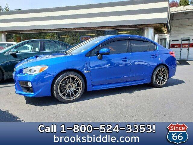 2016 Subaru WRX for sale at BROOKS BIDDLE AUTOMOTIVE in Bothell WA