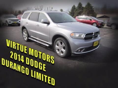 2014 Dodge Durango for sale at Virtue Motors Used in Darlington WI