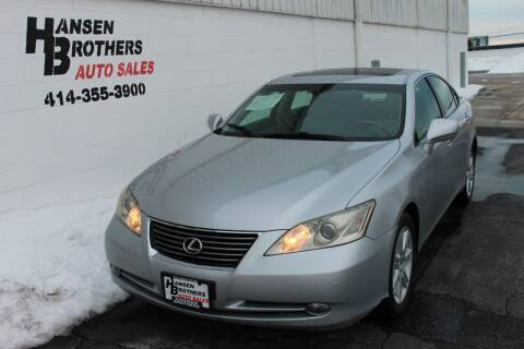 2007 Lexus ES 350 for sale at HANSEN BROTHERS AUTO SALES in Milwaukee WI