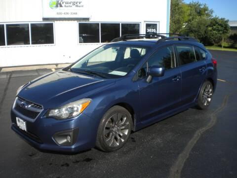 2012 Subaru Impreza for sale at AUTO MART in Oshkosh WI