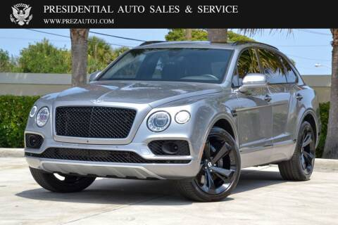2018 Bentley Bentayga for sale at Presidential Auto  Sales & Service in Delray Beach FL