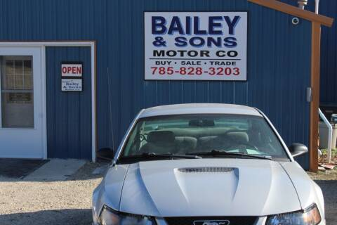 2002 Ford Mustang for sale at Bailey & Sons Motor Co in Lyndon KS
