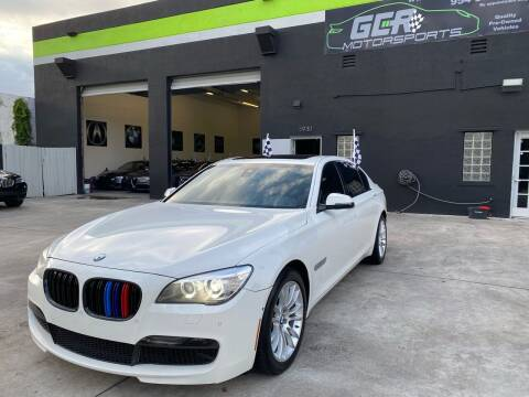 2015 BMW 7 Series for sale at GCR MOTORSPORTS in Hollywood FL