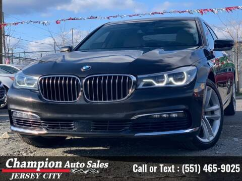 2016 BMW 7 Series for sale at CHAMPION AUTO SALES OF JERSEY CITY in Jersey City NJ