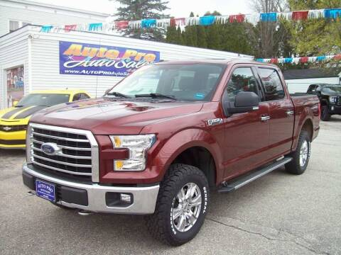 2016 Ford F-150 for sale at Auto Pro Auto Sales in Lewiston ME