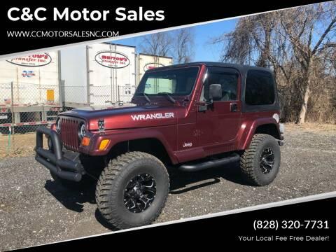 2002 Jeep Wrangler for sale at C&C Motor Sales LLC in Hudson NC