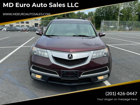 2012 Acura MDX for sale at MD Euro Auto Sales LLC in Hasbrouck Heights NJ