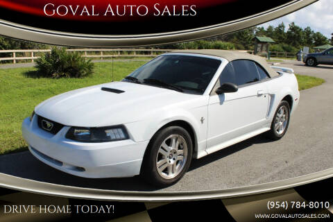 2001 Ford Mustang for sale at Goval Auto Sales in Pompano Beach FL