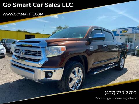 2015 Toyota Tundra for sale at Go Smart Car Sales LLC in Winter Garden FL