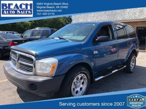 2005 Dodge Durango for sale at Beach Auto Sales in Virginia Beach VA