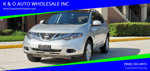 2014 Nissan Murano for sale at K & O AUTO WHOLESALE INC in Jacksonville FL