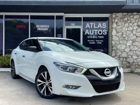 2016 Nissan Maxima for sale at ATLAS AUTOS in Marietta GA