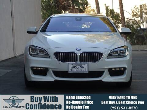 2014 BMW 6 Series for sale at ASAL AUTOSPORTS in Corona CA