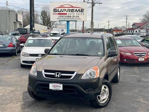 2004 Honda CR-V for sale at Supreme Auto Sales in Chesapeake VA