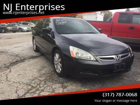 2007 Honda Accord for sale at NJ Enterprises in Indianapolis IN
