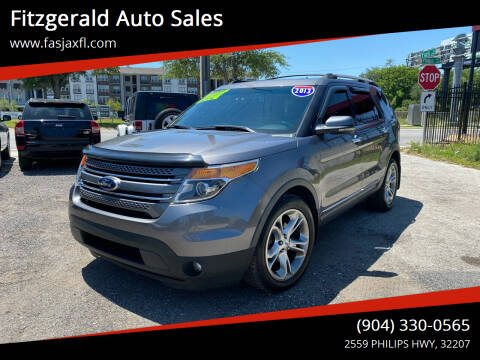 2013 Ford Explorer for sale at Fitzgerald Auto Sales in Jacksonville FL