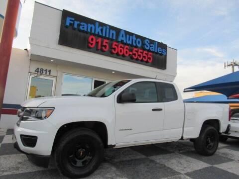 2015 Chevrolet Colorado for sale at Franklin Auto Sales in El Paso TX