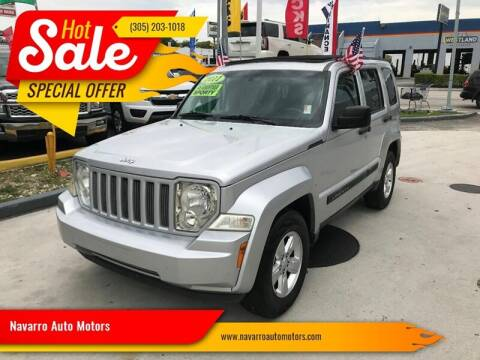 2011 Jeep Liberty for sale at Navarro Auto Motors in Hialeah FL