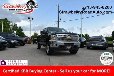 2013 Chevrolet Silverado 2500HD for sale at Strawberry Road Auto Sales in Pasadena TX