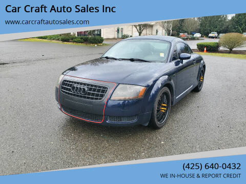 2003 Audi TT for sale at Car Craft Auto Sales Inc in Lynnwood WA