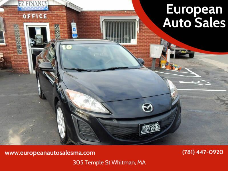 2010 Mazda MAZDA3 for sale at European Auto Sales in Whitman MA