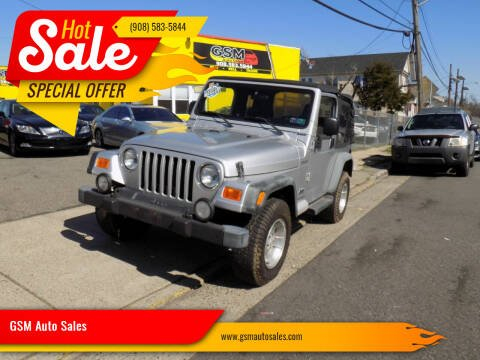 2003 Jeep Wrangler for sale at GSM Auto Sales in Linden NJ