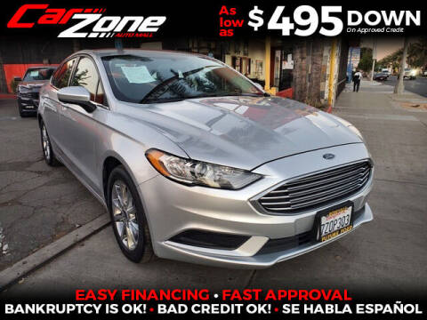 2017 Ford Fusion for sale at Carzone Automall in South Gate CA