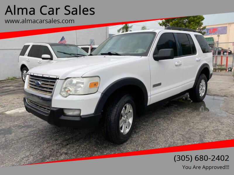 2007 Ford Explorer for sale at Alma Car Sales in Miami FL