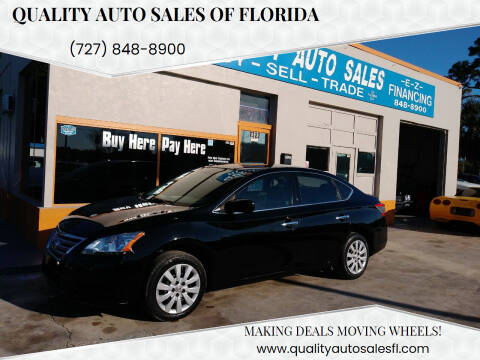 2014 Nissan Sentra for sale at QUALITY AUTO SALES OF FLORIDA in New Port Richey FL