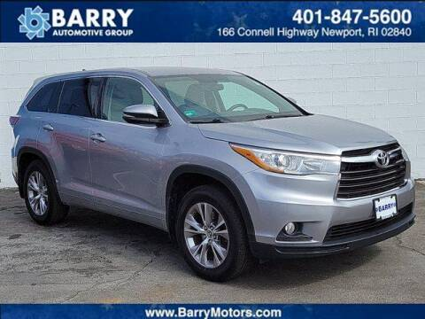 2016 Toyota Highlander for sale at BARRYS Auto Group Inc in Newport RI