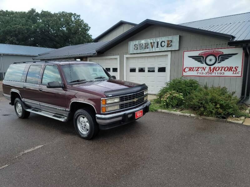 1993 Chevrolet Suburban for sale at CRUZ'N MOTORS in Spirit Lake IA