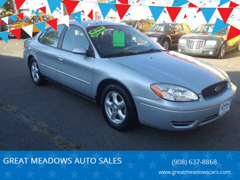 2004 Ford Taurus for sale at GREAT MEADOWS AUTO SALES in Great Meadows NJ