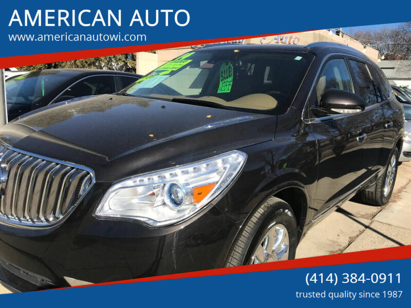 2014 Buick Enclave for sale at AMERICAN AUTO in Milwaukee WI