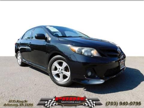 2011 Toyota Corolla for sale at PRIME MOTORS LLC in Arlington VA