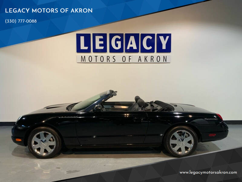 2002 Ford Thunderbird for sale at LEGACY MOTORS OF AKRON in Akron OH