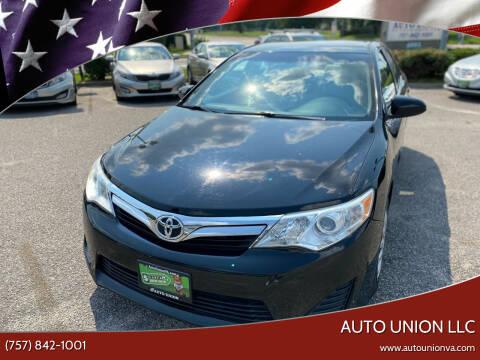 2013 Toyota Camry for sale at Auto Union LLC in Virginia Beach VA