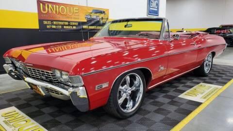 1968 Chevrolet Impala for sale at UNIQUE SPECIALTY & CLASSICS in Mankato MN