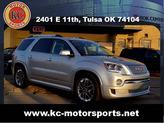 2012 GMC Acadia for sale at KC MOTORSPORTS in Tulsa OK