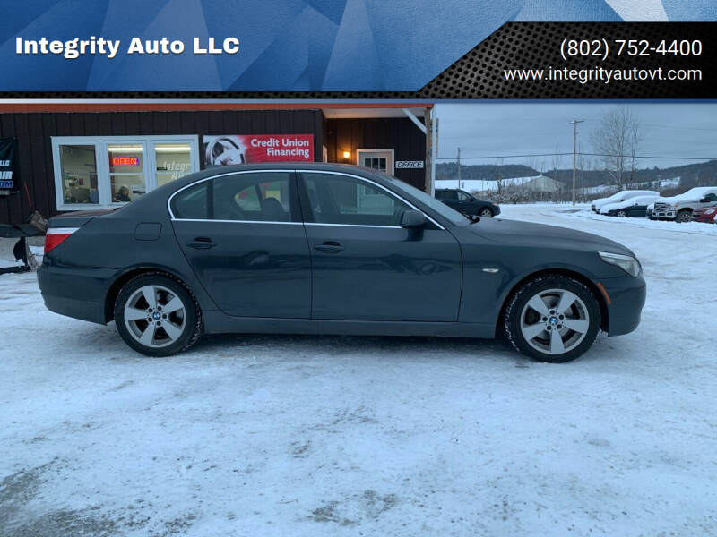 2008 BMW 5 Series for sale at Integrity Auto LLC in Sheldon VT
