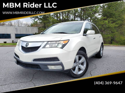 2010 Acura MDX for sale at MBM Rider LLC in Alpharetta GA