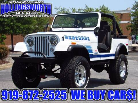 1979 Jeep CJ-7 for sale at Hollingsworth Auto Sales in Raleigh NC