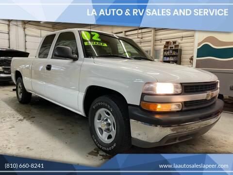 2002 Chevrolet Silverado 1500 for sale at LA Auto & RV Sales and Service in Lapeer MI
