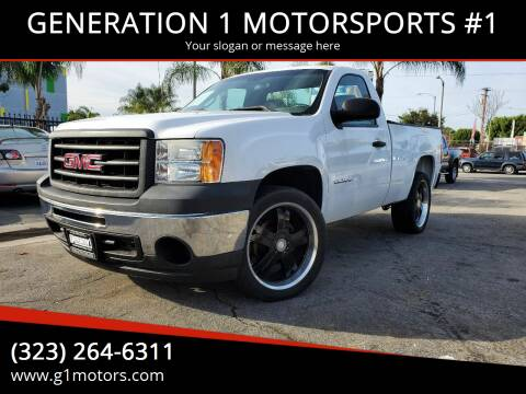 2013 GMC Sierra 1500 for sale at GENERATION 1 MOTORSPORTS #1 in Los Angeles CA