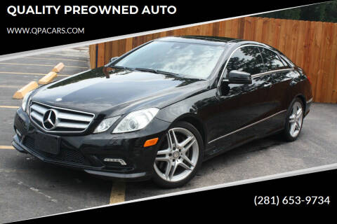 2011 Mercedes-Benz E-Class for sale at QUALITY PREOWNED AUTO in Houston TX