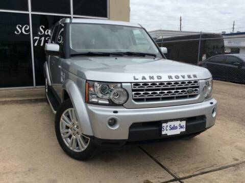 2012 Land Rover LR4 for sale at SC SALES INC in Houston TX