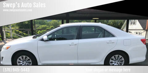 2014 Toyota Camry for sale at Swep's Auto Sales in Factoryville PA