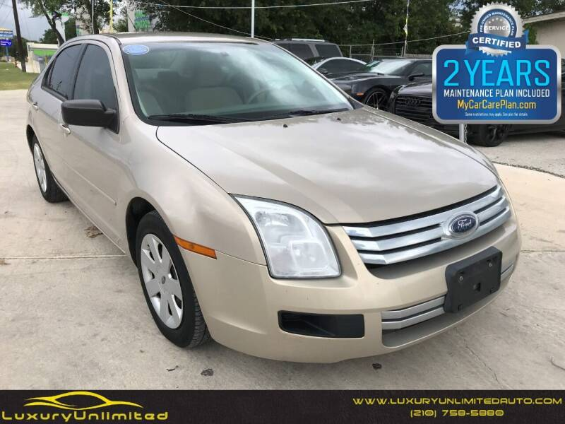 2008 Ford Fusion for sale at LUXURY UNLIMITED AUTO SALES in San Antonio TX