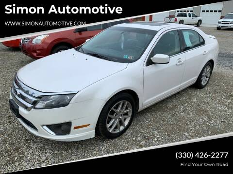 2010 Ford Fusion for sale at Simon Automotive in East Palestine OH