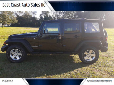 2013 Jeep Wrangler Unlimited for sale at East Coast Auto Sales llc in Virginia Beach VA