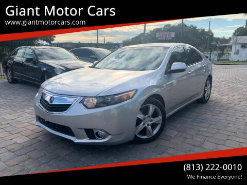 2012 Acura TSX for sale at Giant Motor Cars in Tampa FL